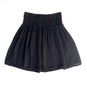 Michael Stars Black Gauze Mini Full Skirt XS